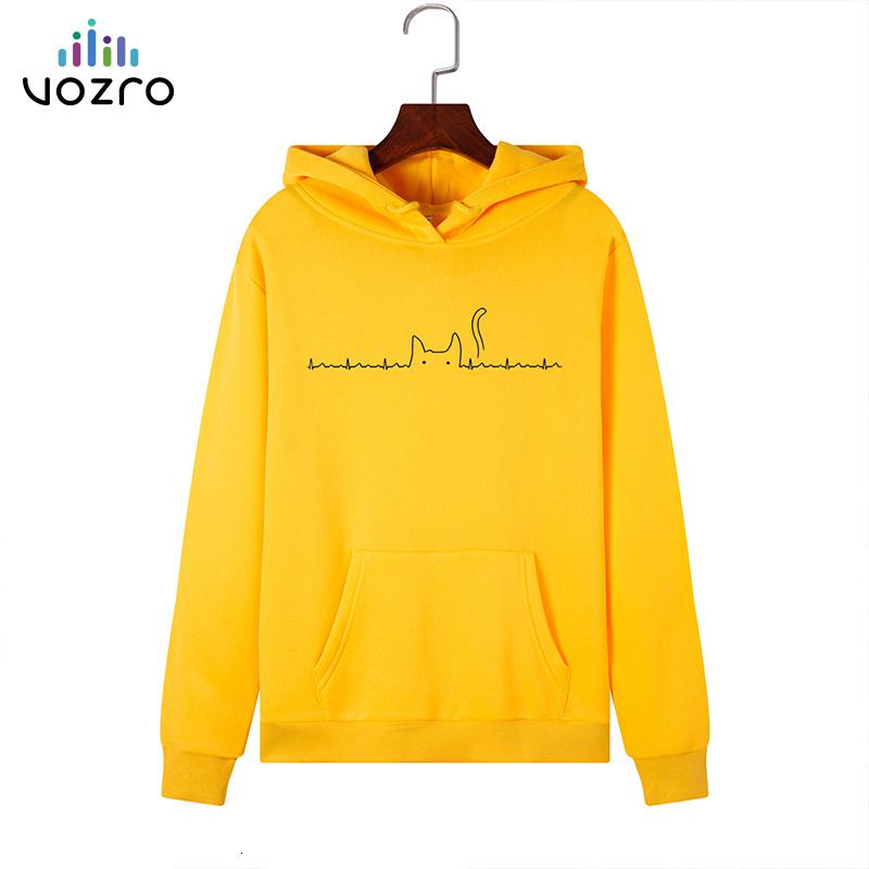 VOZRO Suit-dress Heartbeat Cathead Loose Catch Down Even Midnight Woman Sweatshirt Hoodies Sudadera Mujer Clothes Blackpink Coat