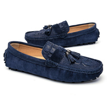 Men Loafers Genuine Leather Shoes Outdoor Fashion Driving Shoes Italian Tassel Loafers Moccasins Men Slip on Flats 3#15D50 цена