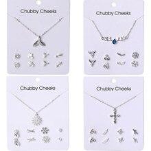 EN 2020-pendientes de perlas bohemias para mujeres, juego de pendientes para mujeres, estrellas, copo de nieve cuelga, joyería de cristal
