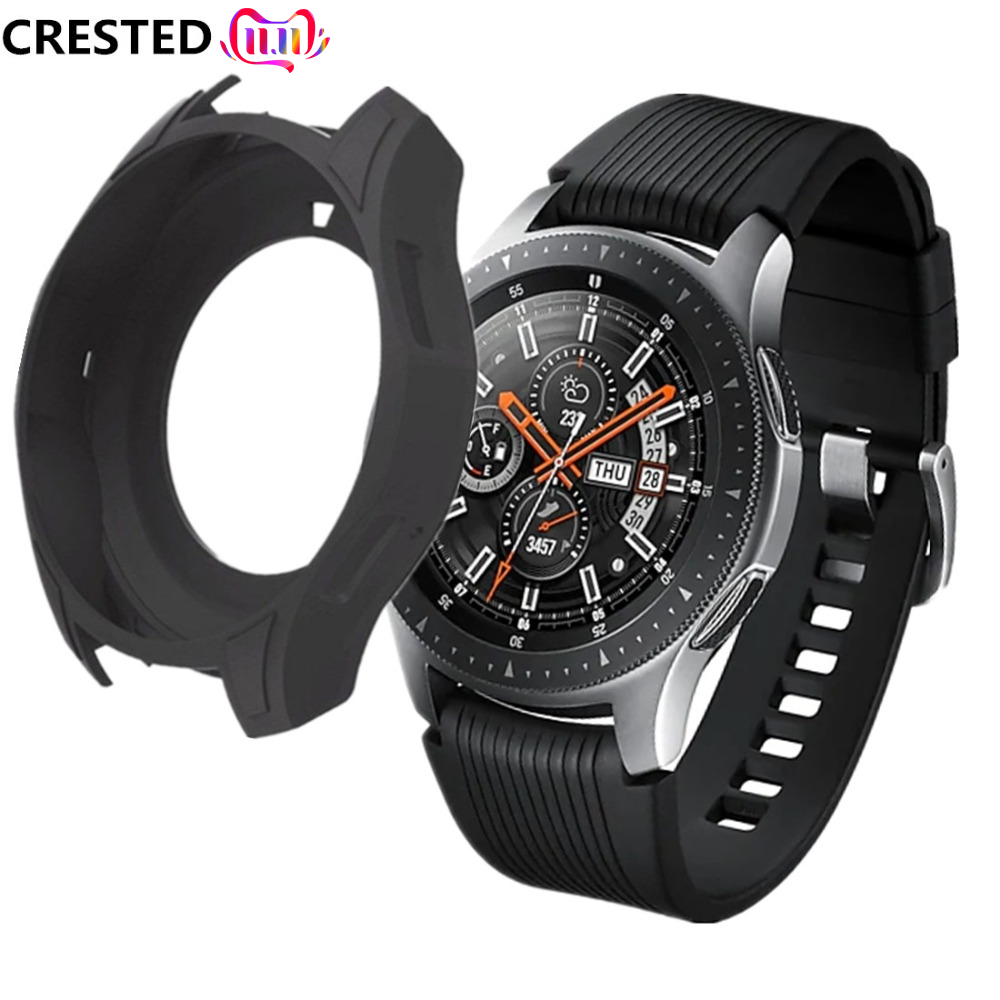 Gear S3 Frontier Case For Samsung Galaxy Watch 46mm S 3 band strap Silicone case Cover Protective protector Watch Accessories