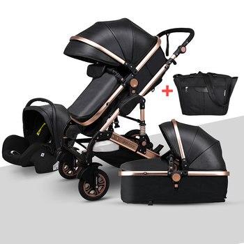 Newborn Baby Stroller 3 in 1 High Landscape Carriage Luxury Travel Pram Basket quality Stroller Baby Car seat Hot Sale Upgrade! 1
