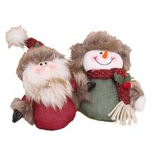 Christmas Ornaments Snowman Hanging Santa Tree Pendant Three-dimensional Cloth Small Doll Keychain