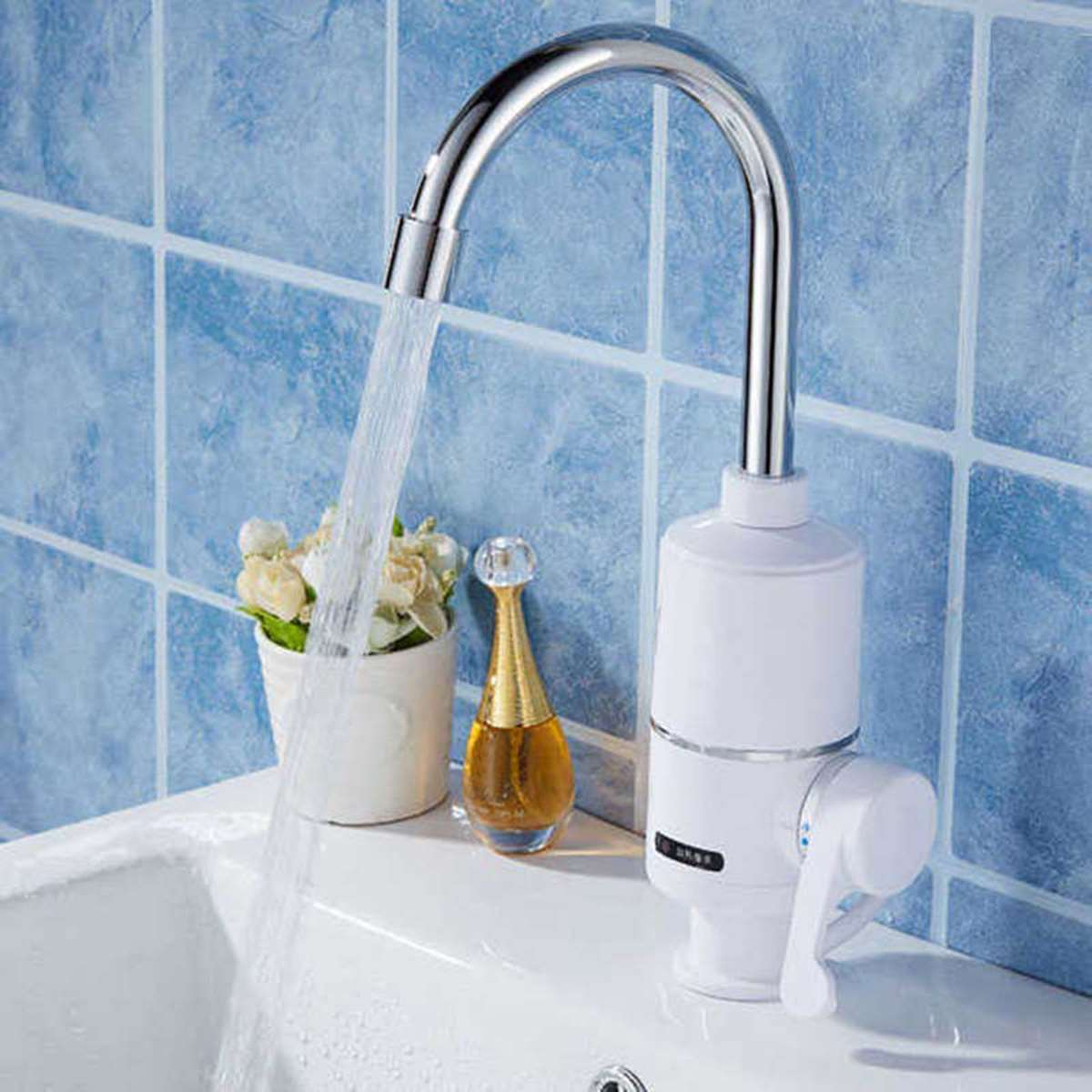 220V 3000w Instant Electric Water Heater Tap Rotatable Hot Water Faucet Heater Cold Heating Faucet Tankless Rapid Heater