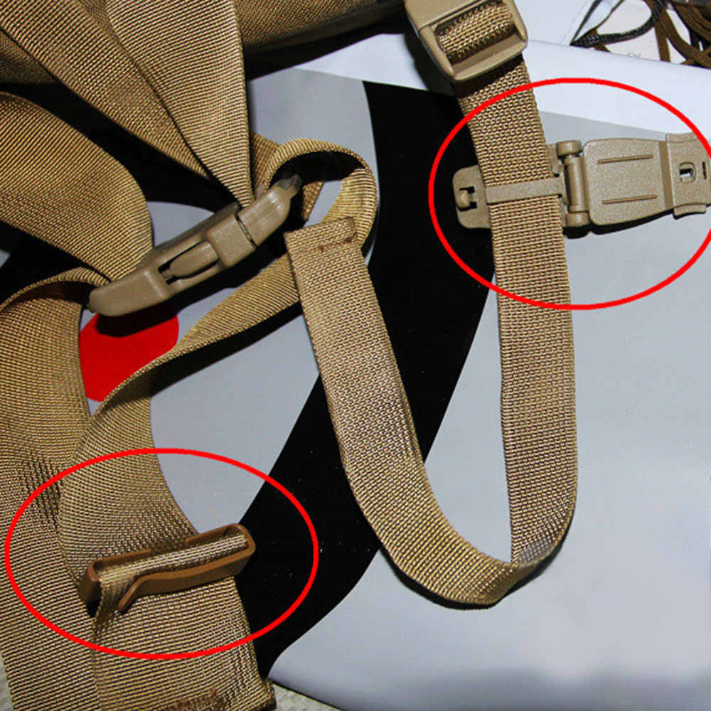 Outdoor Militaire Fan Rugzak Accessoires Lint Verbinding Gesp Clip Gesp Rugzak Vaste Gesp Opknoping Gesp Zwart