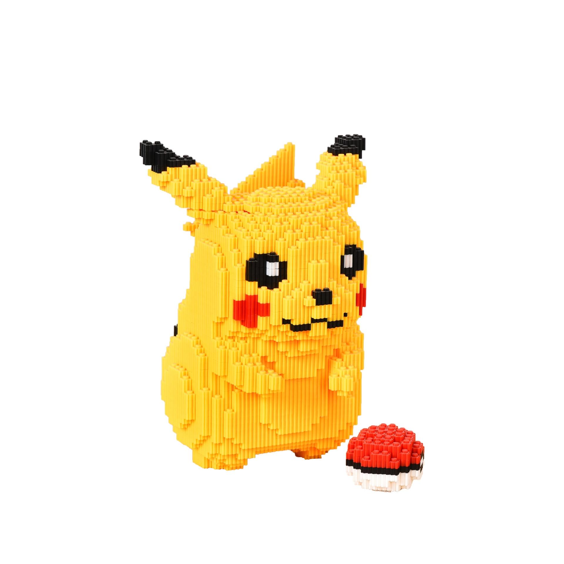 5210pcs Magic Blocks Cute Anime Pikachu 3D Building Block Decoration Children's Puzzle DIY Creative Building Block Toy
