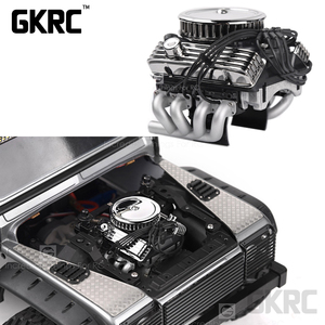 Image 1 - Rc Auto F82 V8 Simuleren Motor Motor Cooling Fans Radiator Voor 1/10 Rc Crawler Traxxas Trx4 Axiale Scx10 90046 Redcat gen8