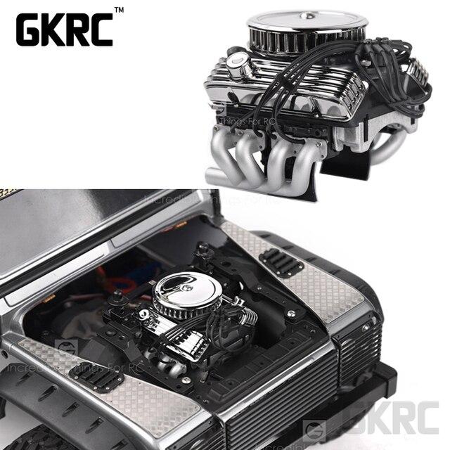 Rc Auto F82 V8 Simuleren Motor Motor Cooling Fans Radiator Voor 1/10 Rc Crawler Traxxas Trx4 Axiale Scx10 90046 Redcat gen8