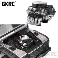 Rc Car F82 V8 Simulate Engine Motor Cooling Fans Radiator For 1/10 Rc Crawler Traxxas Trx4 Axial Scx10 90046 Redcat Gen8