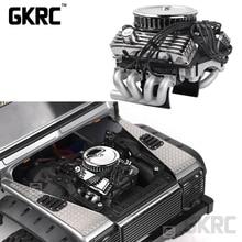 Rc רכב F82 V8 לדמות מנוע מנוע קירור אוהדי רדיאטור עבור 1/10 Rc Crawler Traxxas Trx4 צירי Scx10 90046 Redcat gen8