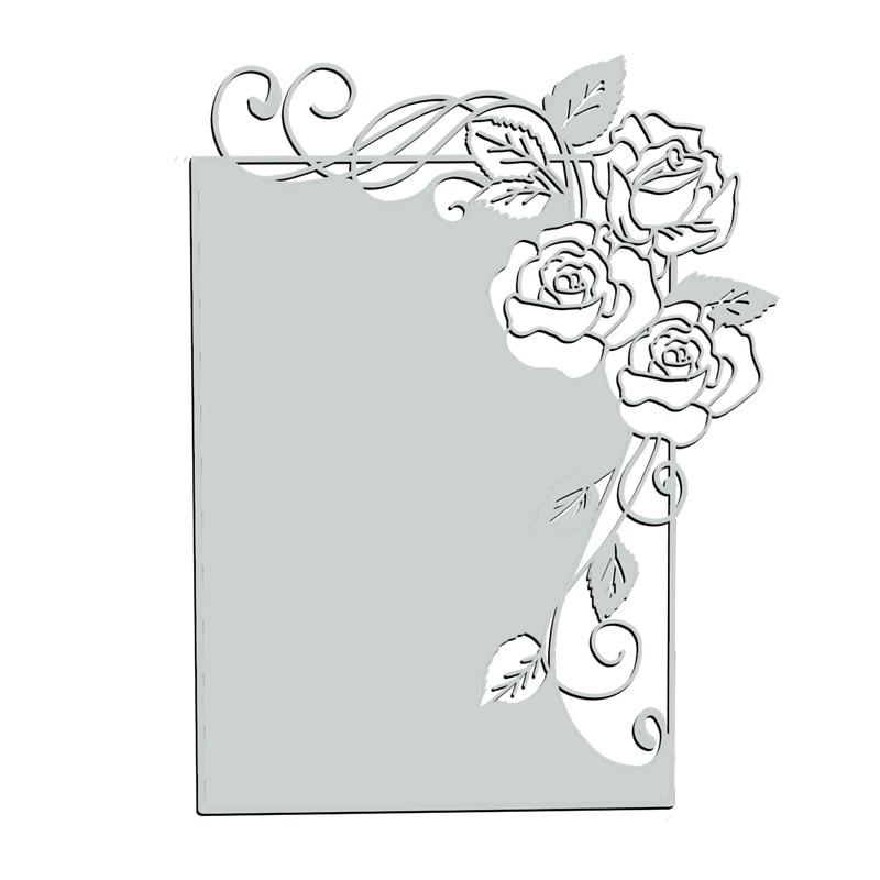 InLoveArts Rose Flower Frame Metal Cutting Dies For Card Making Scrapbooking Embossing Die Cut Stencil Craft New 2020 Craft Dies
