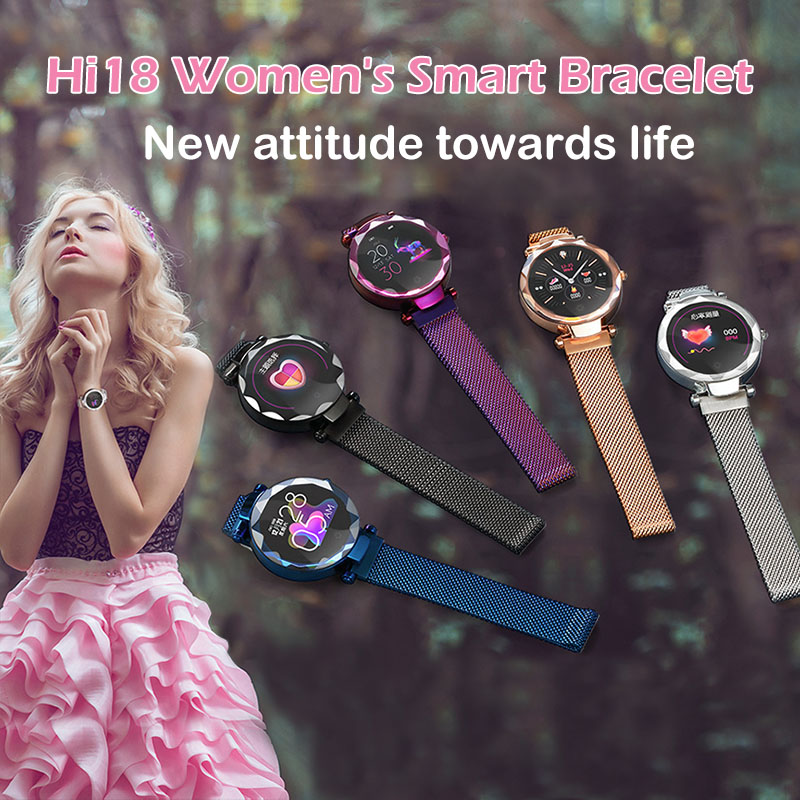 Montre intelligente femmes physiologique tension artérielle moniteur de fréquence cardiaque Bracelet intelligent santé Bracelet sommeil Tracker Fitness Bracelet