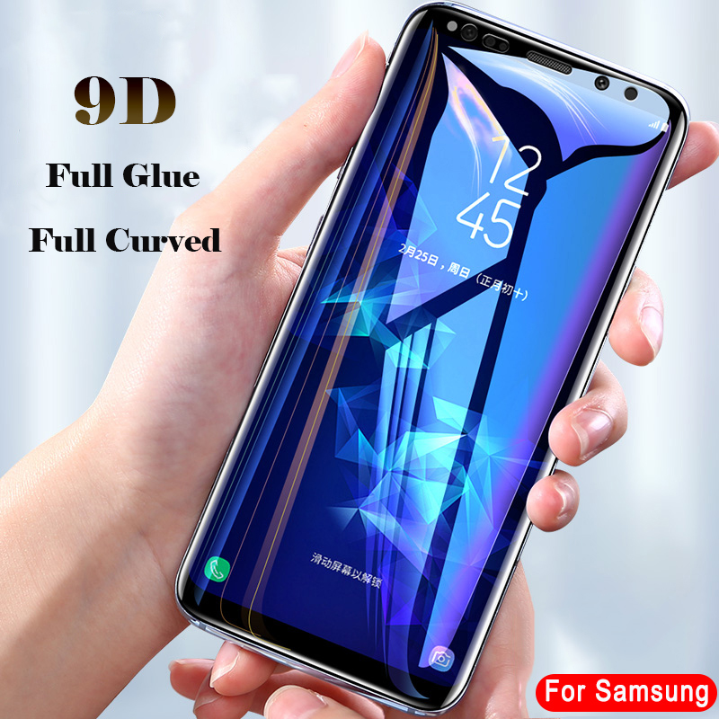 9D Volle kleber gebogene explosion-proof Gehärtetes Glas für <font><b>Samsung</b></font> <font><b>Galaxy</b></font> Note 8 9 10 screen protector film auf s6 S7 <font><b>S8</b></font> S9 Rand Plus image