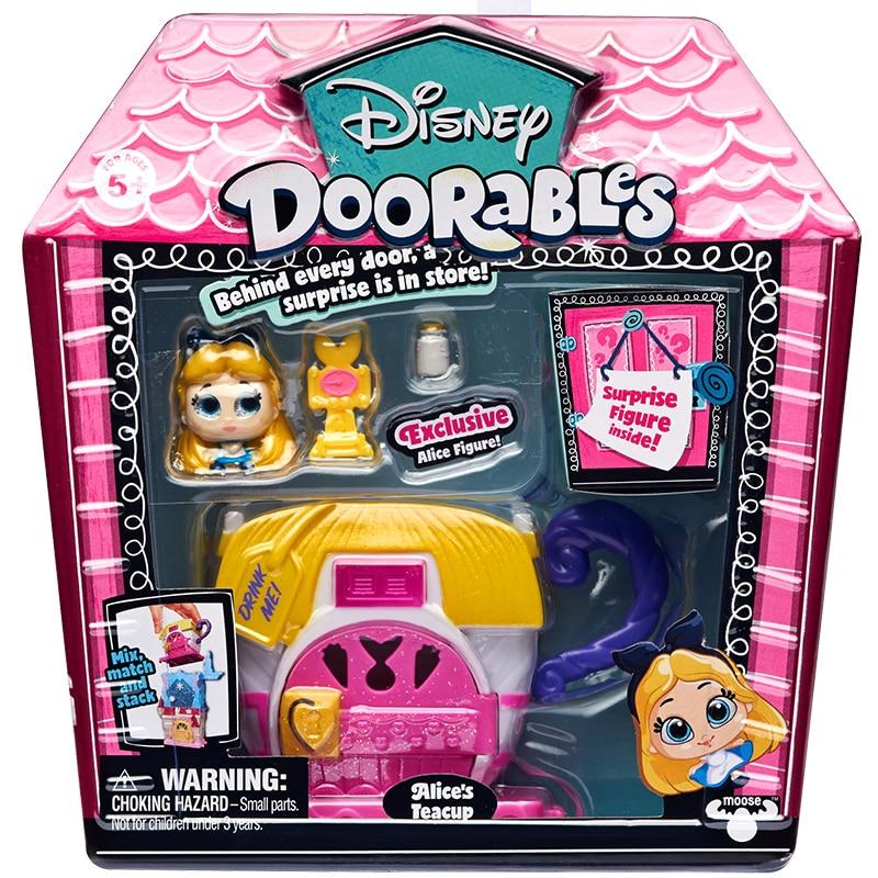 Disney Doorables Frozen Elsa Olal Mickey Minnie Judy Pinocchio Rapunzel Alice Snow White Belle Princess Blind Box Girl Kids Toys 16