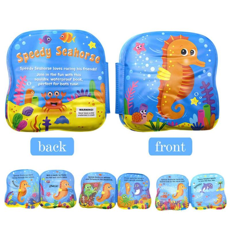 Colorful Baby Soft Bath Book Multifunctional Infant Early Cognitive Development Quiet Book Creative And Unique Bath Toy