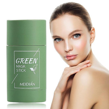 Green Tea Purifying Masks Clay Stick Oil Control Anti-Acne Eggplant Fine Cleaning Mask Whitening Skin Care Products Gift cadeau 1