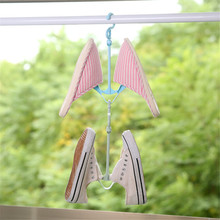 Shoes Hanger Storage-Organizer Drying-Rack Double-Hook Folding Household Portable 3-Colors