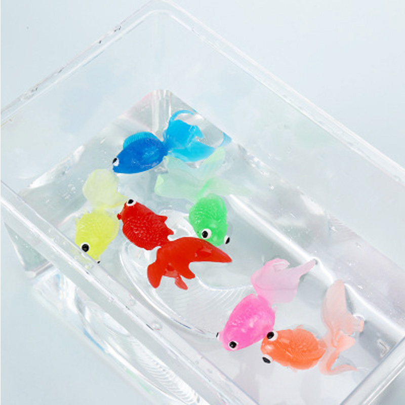 20pcs/set Kids Soft Rubber Gold Fish Baby Bath Toys For Children Mini Goldfish For The Bathroom Water Play Swimming Beach Toys