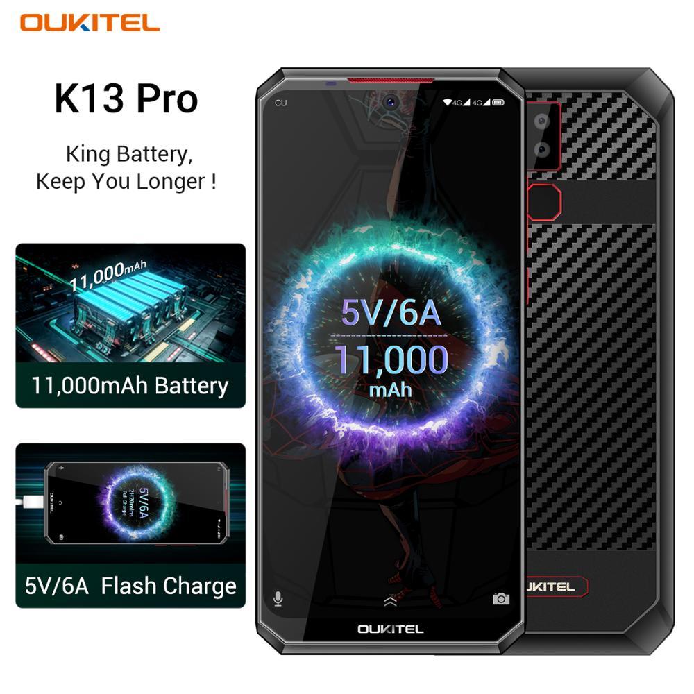 """Видит К13 K13Pro Pro смартфон андроид 9.0 6.41"""" 4G смартфон мобильный телефон 4 ГБ-64 ГБ ПЗУ MT6762 11000mAh силы 5в/6а быстрая зарядка мобильного телефона"""