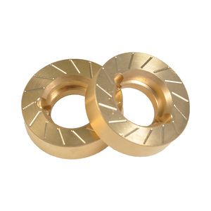 Image 5 - YEAHRUN Heavy Metal Internal Wheel Weights Turning Copper Counterweight For Axial SCX10 II 90046 90047 1/10 RC Car