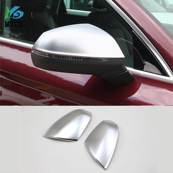 For Audi Q5 L Q5L 2018 ABS Chrome Car Side Door Rearview Mirror Protect Frame Cover Trim Moldings Car Styling Auto Accessories