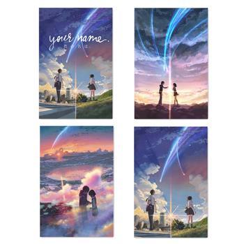 Manga Film Poster Anime Movie Prints Your Name Poster Kimi No Na Wa Wall Art Pictures 40x60 50x75cm Cartoon Love Silk Painting недорого