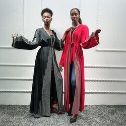 Vrouwen Kaftan Dubai Abaya Kimono Turkse Hijab Moslim Jurk Vest Islam Abaya Gewaad Musulman Caftan Marocain Islamitische Kleding