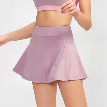 Kobiety spódnica do tenisa wysokiej talii spódnica do tenisa spodnie jednokolorowe szybkoschnąca spódnica do jogi spodenki golfowe Skort tanie i dobre opinie UVRCOS WOMEN POLIESTER spandex CN (pochodzenie) Stałe spódnico-spodnie Dobrze pasuje do rozmiaru wybierz swój normalny rozmiar