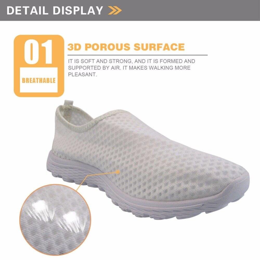 ELVISWORDS Vivid Cartoon Nurse Cute Pattern Spring Summer Flats Women Shoes Casual Sneakers for 2020 Comfort Air Mesh Girls Shoe