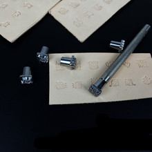 Leather Stamping Tools Zodiac Grass Constellation Animal Mold Stamps Set Metal for leathercraft embossing handmade diy work Tool
