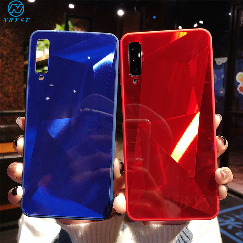 3D Diamond Mirror Case For Moto G7 Plus G7 Play Ultra Thin Glitter Cover For Moto One Mote G6 Plus G6 G7 Power Shell Capa(China)