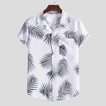 Streetwear Short Sleeve Shirt for men Fashion Ethnic Button Down Shirt Men Casual Hawaiian Printing Blouse Tops Chemise Homme hawaiian shirt male short sleeve casual shirt for men fashion stripe blouse men summer new