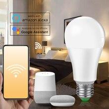 E27 B22 Wifi умный светодиодный светильник 15 Вт умный предупреждающий светодиодный светильник с регулируемой яркостью управление через приложение работа с Alexa Google Assistant