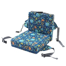 2 Pcs/Set Anti-Skid Cartoon Printing Dining Children Cushion Increased Pad Adjustable Removable High Chair Booster Mat
