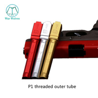 SAI casing square flute threaded outer tube P1 P1S upgrade modification accessories metal CNC gold silver  KUBLAI P1 accessories