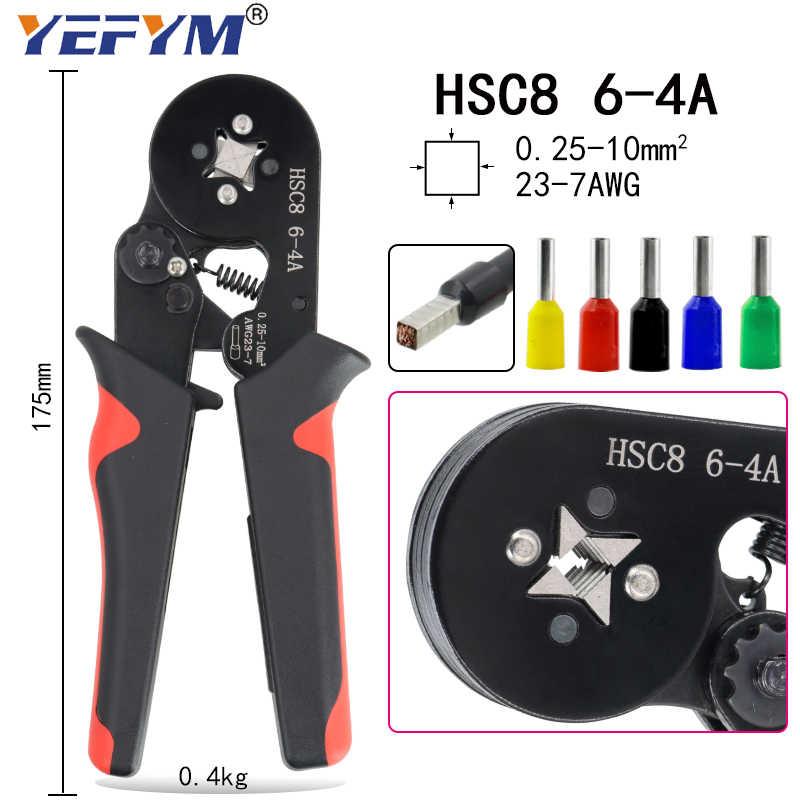Ye 16-6 0.08-16mm2 Krimpgereedschap Tang Elektrische Tubular Terminals Box Mini Klem HSC8 10S/6-6/16-4 Zelfinstellende Tool Set