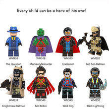 legoed Loki Avengers Infinity War Wasp Captain Marvel Spider ant man batman Strange Model Building Blocks Toys Figures for kids(China)