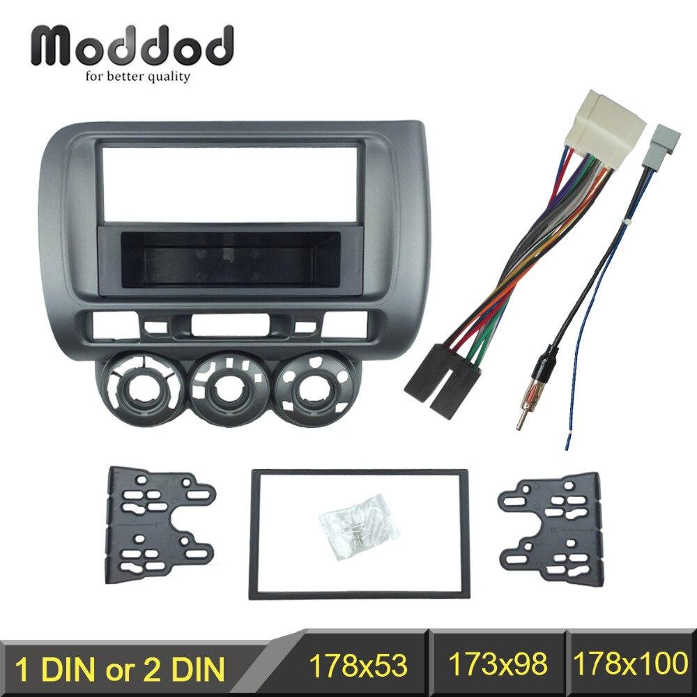 Ramka wykończeniowa radia dla Honda Jazz City jeden podwójny Din DVD Stereo CD mocowanie panelu instalacja zestaw paneli wykończeniowych ramka