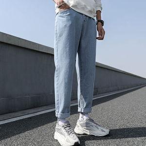Новые свободные Для мужчин мужские джинсовые брюки, простой дизайн, высокое качество, удобные, подходят под все студентов ежедневно Повседневное джинсовые штаны