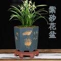 Фиолетовый песок цветочный горшок Орхидея джентльмен Орхидея дышащий высококачественный бутик ручной работы гексагональный керамический...