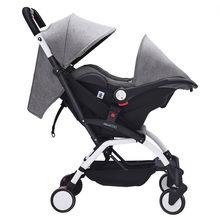 Cochecito de bebé 3 en 1, carrito de bebé ligero y portátil Yoya con Moisés, carrito de bebé para 0 meses
