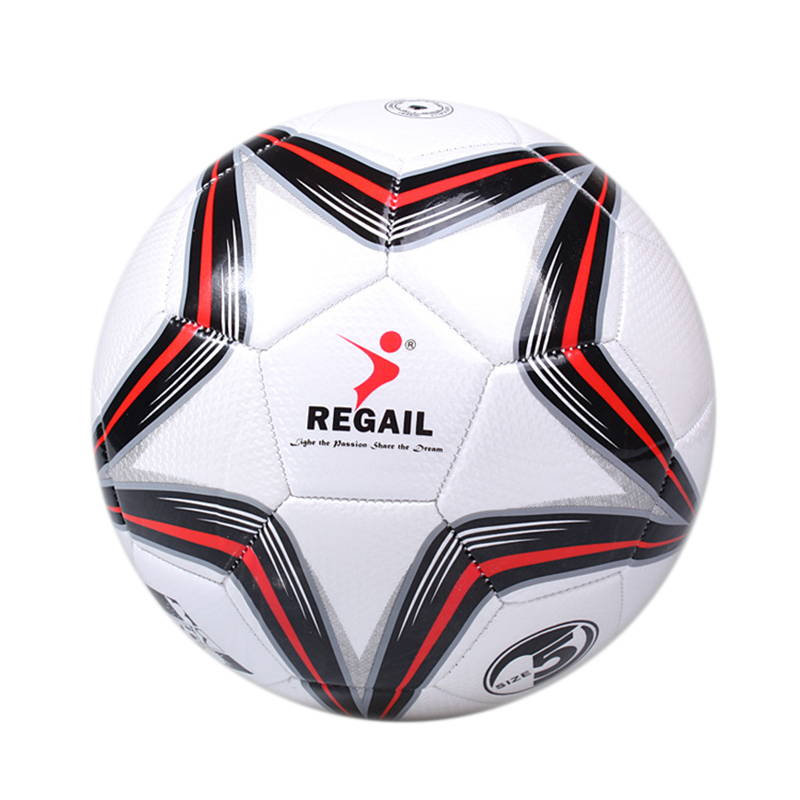 REGAIL Machine Sewing Football Material Pu Professional Competition Train Durable Soccer Ball Number 5