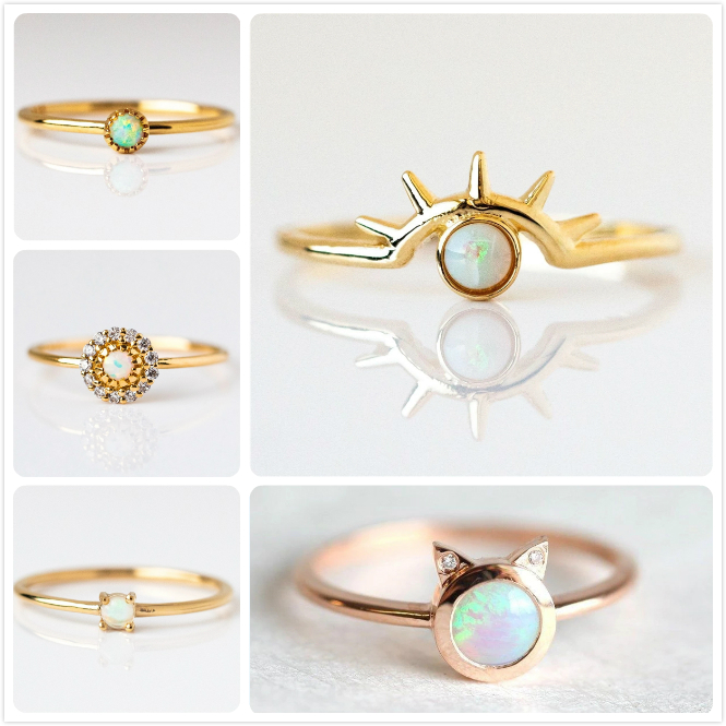 Unisex Cat eye Rainbow stainless steel fashion rings lots ring gift