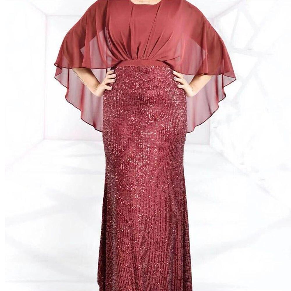 Long Ankara African Sequin Dresses Clothes Kenya South Africa Night Dress Women Vestidos De Fiesta De Noche
