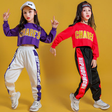 Kid Cool Hip Hop Clothing Hoodie Sweatshirt Shirt Top Crop Causal Jogger Pants for Girl Jazz Ballroom Dance Costume Clothes Wear