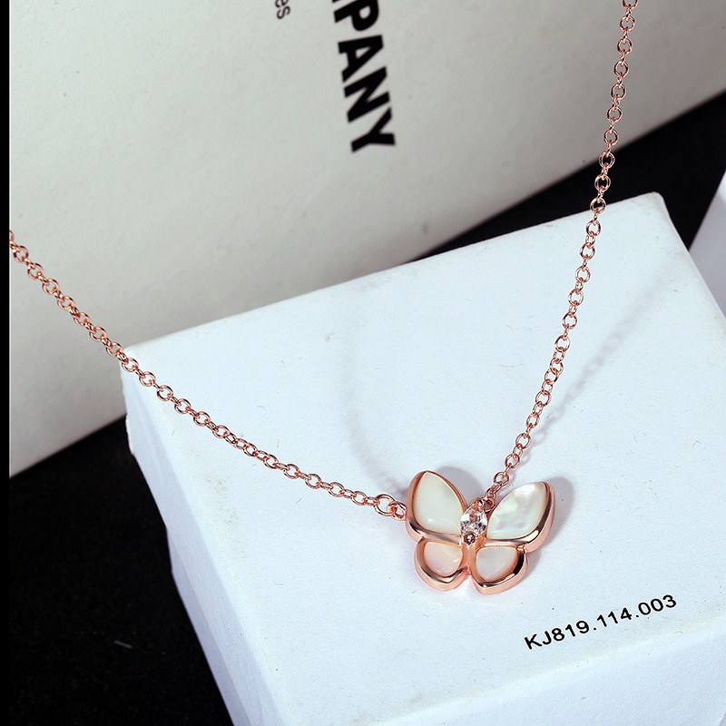 Closeout Deals÷Choker Necklace Fashion Jewelry Gold-Color Women New Cute for Acrylic Clavicle Butterfly