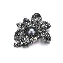 Hot DIY Bouquet Bridal Crystal Imitation Pearl Brooches Fashion Flower Brooch Pins for Women Wedding Accessories