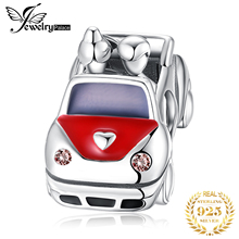 JewelryPalace 925 Sterling Silver Car Beads Charms Original Fit Bracelet original for Jewelry Making