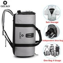 OZUKO костюм многофункциональная сумка для хранения мужской костюм дорожная сумка большой емкости водонепроницаемый вещевой мешок для поездки ручная багажная сумка