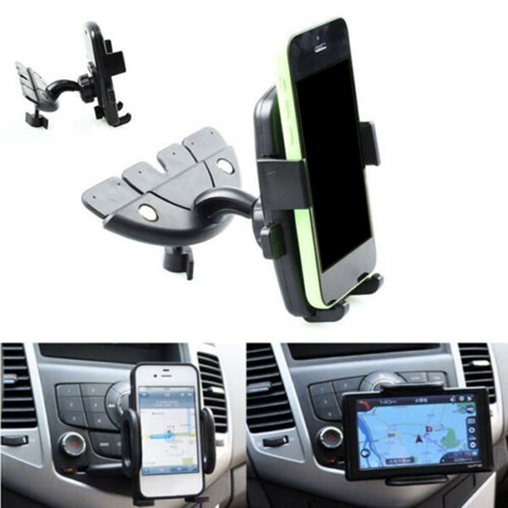Автомобильный держатель для смартфона, Универсальный Регулируемый держатель для CD-плеера, GPS