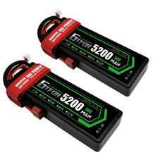 GTFDR 5200mAh Lipo Battery 7.4V 50C 2S LiPo RC Battery Deans for RC Evader BX Car Truck Truggy Buggy Helicopter